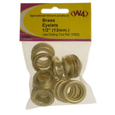 """BRASS EYELETS W4 1/2"""" 13MM REF 37652 X10 CARAVAN CAMPING TENT COVER AWNING PARTS"""