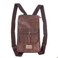 WerKens Leather Drumstick Bag Back Pack 12-16 Pair Sticks Drum Stick Bag