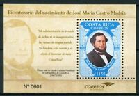 Costa Rica 2018 MNH Jose Maria Castro Madriz 1v MS Presidents Politicians Stamps