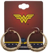 Wonder Woman Dc Comics Small Hoop Earrings With Stars Ear Rings