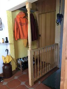 gedrechselte Pfosten von 33 bis 250cm für Treppe, Balkon, Veranda, Tisch & Stuhl