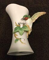 ✨Vintage Royal Crown Arnart Imports Porcelain 3D Hummingbird Vase w/Flower
