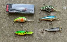 LOT OF 6 RAPALA  Assorted CRANKBAIT fishing lures