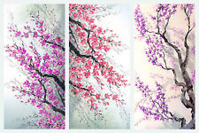 STUNNING JAPANESE FLORAL COLLAGE CANVAS #753 QUALITY FRAMED WALL ART A1