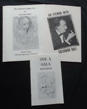 3~DALI MUSEUM PAMPHLETS~AN EVENING WITH SALVADOR DALI~ODE A GALA ~SPANISH ART