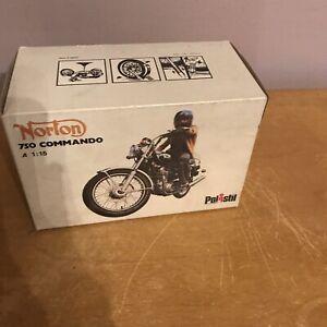POLISTIL NORTON COMMANDO 1:15 SCALE MOTORCYCLE MODEL TOY
