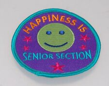 Girl Guides Happiness Is Senior Section Patch