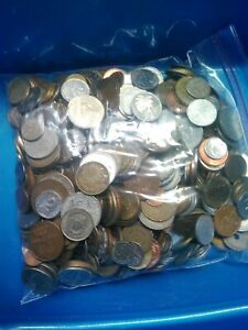 Bulk Lots World Coins 5 pound bags 1920's to around 2000