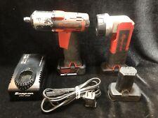 Snap-On 14.4V Hex Microlithium Screwdriver CT761A & Flashlight CTL761