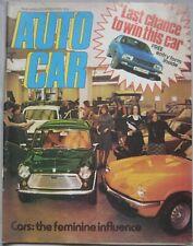 Autocar 20 March 1976 featuring Reliant Scimitar GTE road test, Ferrari, Citroen