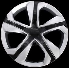 "16"" Set of 4 Silver Black Wheel Covers Snap On Hub Caps fit R16 Tire & Steel Rim"