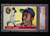 ⚾1955 Topps #47 HANK AARON PSA 9 MINT Sharp Highest Graded! + 1954 Hank Aaron RP