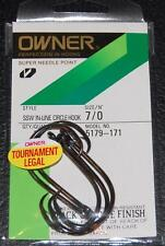 OWNER SSW IN-LINE CIRCLE HOOKS 5179-171 Size 7/0 - 5 pack Tournament Legal