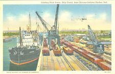 East Chicago, IN Loading Dock Activity at the Ship Canal 1939