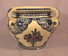 Rarer grosser alter Keramik Blumenübertopf Zell um 1910