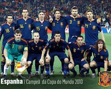 Spain - 2010 World Cup Champions, 8x10 Team Color Photo