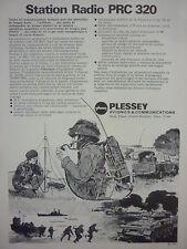 1/1973 PUB PLESSEY ELECTRONIC SYSTEMS STATION RADIO PRC 320 CLANSMAN FRENCH AD