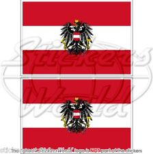 Autriche Etat Drapeau Autrichien Autriche Vinyle Autocollant Sticker 75 mm x2