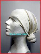 man WHITE paint  dust Knotted Head Stretch Wrap Turban SKULL  Headwear CAP