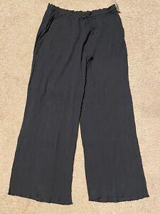 New Women's Merona Black Crinkle Swimsuit Cover Up Pants Elastic Waist Sz Medium