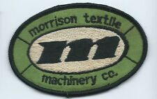 M Morrison Textile Machinery Co patch 2-5/8 X 3-7/8 #1711