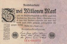 * Ro. 102c - 2 millones de marcos-Deutsches Reich - 1923-Fz: a *