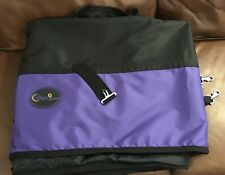 CWell Equine Lightweight No Fill Turnout Rug Black/Purple 6'9""