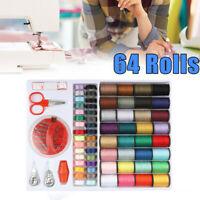 Sewing Machine Line thread Spool Set Bobbin Cotton Reel Needle Tape Kit Hot Sale