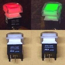 2 PCS lot - HIGH QUAL - NKK illuminated DUAL LED pushbutton switch RED - GREEN