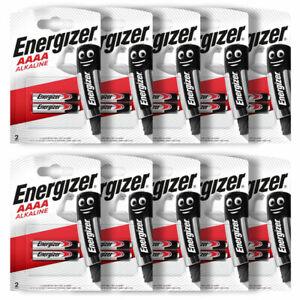 20 x Energizer AAAA batteries Alkaline 1.5V MX2500 E96 LR61 MN2500 Pack of 2