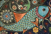 """perfect 36x24 oil painting handpainted on canvas """"a fengshui koi fish"""" NO1384"""