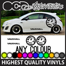Vauxhall Corsa Astra logotipo y texto Gráficos Pegatinas Calcomanías Kit raya lateral