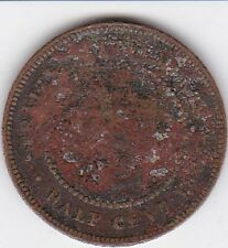 1883 Straits Settlements half  1/2 Cent,   RARE  Look