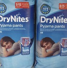 2 x Huggies Drynites Boy Pyjama Pants 8-15 Years 9 Packs