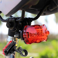 Bicycle Bike 5Led Red Laser Lamp Beam Flash Light Safety Tail Rear Light W/Mount