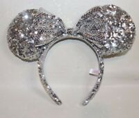 TOKYO DISNEY HEADBAND 2019 Minnie Mouse Spangle hairband ears Silver