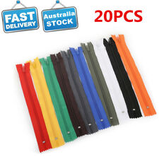 20/Lot 20cm Invisible Zip Zipper Closed End Nylon Tailor DIY Sewer Sewing Craft