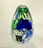 Langham Glass Conical Paperweight with Original label