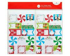 American Greetings Christmas Fun To and From Sticker Sheets, 8 Count
