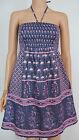 04 New Monsoon size 8 - 16 Blue Pink Summer Cotton Holiday Beach Dress