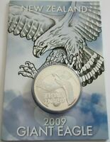 Neuseeland 1 Dollar 2009 Giant Eagle 1 Oz Silber