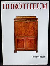 Catalogue Dorotheum, 21th october 2015 Antiquitäten und Möbel  NM