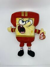 Ty Beanie Babies Plush Spongebob Square Pants Quarter Back