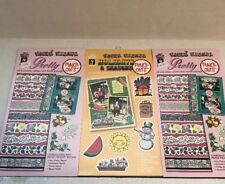 PAPER PIZAZZ - PUNCH-OUTS - Paper Shapes - Embellishments Scrapbooking Lot of 3