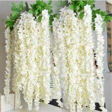 Artificial Fake Silk Wisteria Flower Vine Hanging Garland Wedding Decor 10pcs
