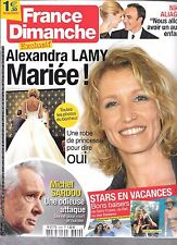 FRANCE DIMANCHE N° 3649--LAMY MARIEE/SARDOU ATTAQUE/NIKOS ALIAGAS