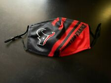 Houston Texans Face Mask with adjustable ear pieces and filter pocket