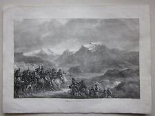 1825ca BATAILLE DE RIVOLI litografia Carle Vernet Charles Motte Napoleone Verona