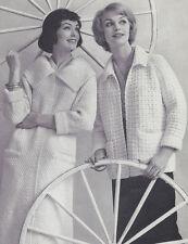 Vintage Knitting Crochet PATTERN to make Knit Coat Crochet Jacket CoatJacket