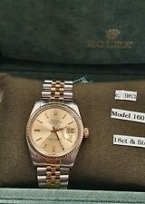 Rolex Datejust Automatic Gents Watch - 16013 - 1983 -  18ct Gold & Steel
